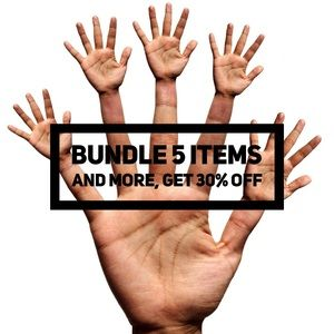 Bundle 5 items and more, get 30% off.